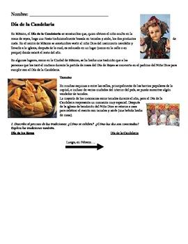 Día de la Candelaria Spanish 3-5