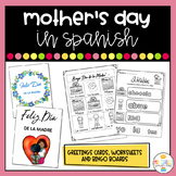 Mother's Day in Spanish Cards and Worksheets - Dia de la Madre