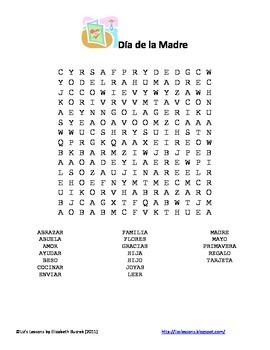 Dia de la Madre! Spanish Mother's Day Vocabulary & Activities!