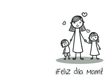 FREE Spanish Mother's Day Card - Dia de la Madre Tarjeta.