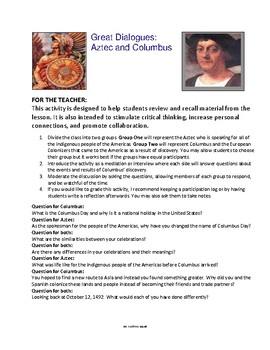 Columbus Day / Dia de la Raza lesson materials (October 12)