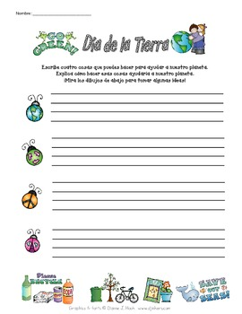 Spanish Earth Day Activity (Día de la Tierra)