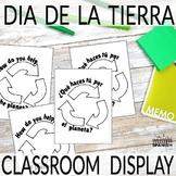 Día de la Tierra Earth Day in Spanish Writing Activity and Classroom Display