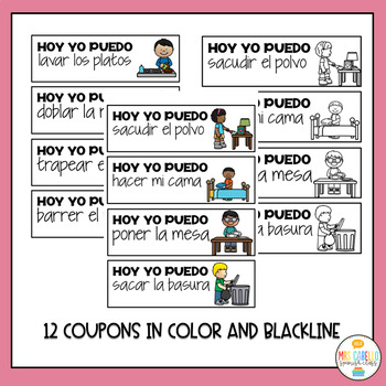 Dia de la Madre Coupons and craft (Mother's day in Spanish)