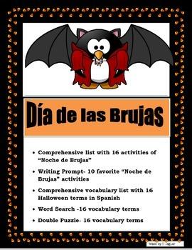 Mis Actividades del Día de las Brujas- Halloween Spanish I