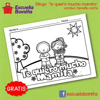 Día de las Madres!!! Dibujo para colorear!  Mother's day coloring page Spanish!
