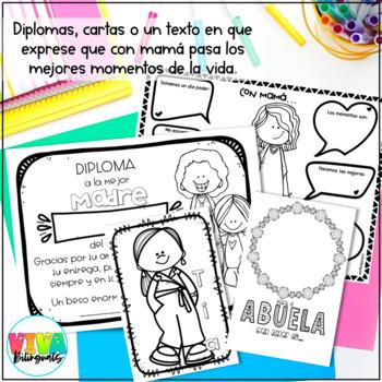 Día de las madres (mother's day activities in Spanish)