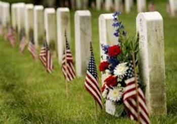 Día de los Caídos - Spanish Memorial Day article and vocabulary coloring page