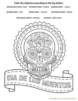Dia de los Muertos #2 Color-by-Note