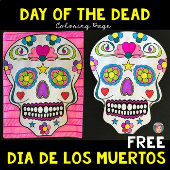 Dia De Los Muertos Free Coloring Sheets