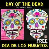 FREE Coloring Sheets for Day of the Dead   Dia de los Muertos