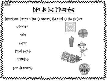 Dia de los Muertos Activities in English and Spanish
