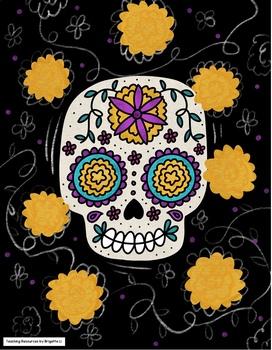 Dia de los Muertos Art Project and Coloring Pages