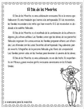 Dia de los Muertos Break Out Room Spanish Activity for Day of the Dead