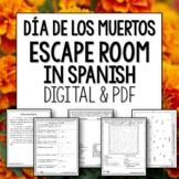 Dia de los Muertos Break Out Room Spanish Escape Activity for Day of the Dead