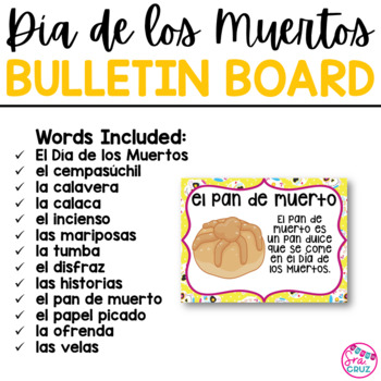 Dia de los Muertos Bulletin Board Set / Day of the Dead Bulletin Board