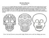 Dia de los Muertos - Calaveras Coloring Page