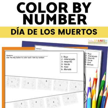 Día de los Muertos Color by Number