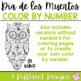 Día de los Muertos Color by Number Pages / Day of the Dead Color by Number