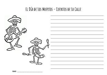 Día de los Muertos -  Creative Writing Worksheet (Spanish Version)