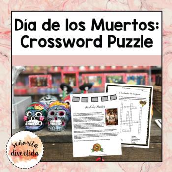 Día de los Muertos Crossword Activity