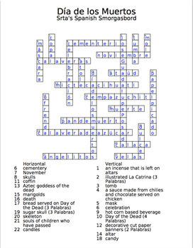 Día de los Muertos Crossword and PowerPoint