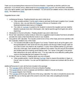 11th grade music lesson plans bundled resources lesson plans da de los muertos cultural reading song bundle malvernweather Images