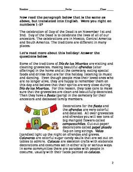 Dia de los Muertos Culture Reading for Beginners