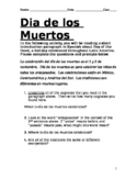 Dia de los Muertos Culture Reading for Beginners