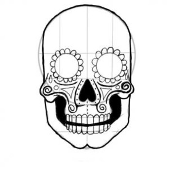 Dia de los Muertos/Day of the Dead-Black Line Masters