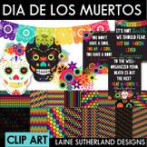 Dia de los Muertos {Day of the Dead} Digital Paper & Clip Art Set