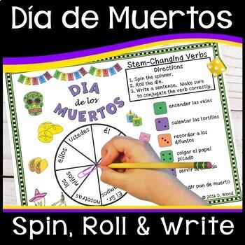Dia de los Muertos Activities Spanish Verbs