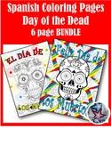 Día de los Muertos Day of the Dead - Fall Spanish Adult Coloring Pages BUNDLE