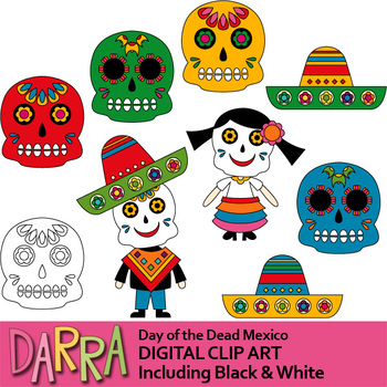 Dia de los Muertos (Day of the Dead) Mexico Clip Art