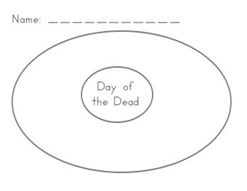Día de los Muertos/ Day of the Dead  Picture Sort