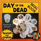 Day of the Dead Book, Día de los Muertos Skull Book English, Spanish, Digital