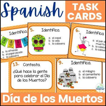 Día de los Muertos Day of the Dead Task Cards