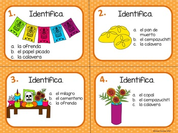 Día de los Muertos Day of the Dead Spanish Task Cards