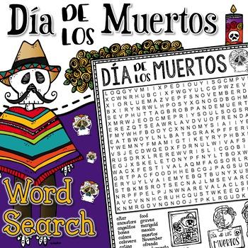 Day of the Dead Dia de los Muertos Word Search Activity