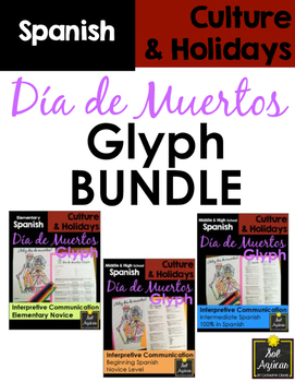 Día de los Muertos Glyph BUNDLE - Read and Color