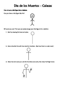 Dia de los Muertos - How to draw a skeleton