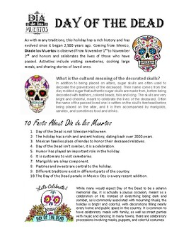 Dia de los Muertos - Introduction Sheet