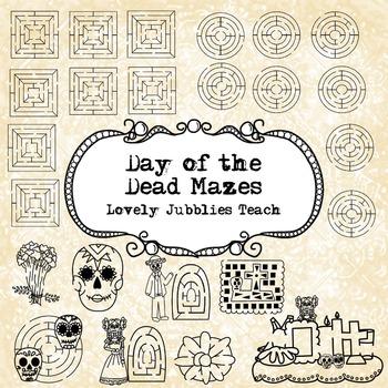 Dia de los Muertos Laberintos /Day of the Dead Themed Mazes