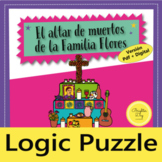 Día de los Muertos Logic Puzzle and activities, Distance L