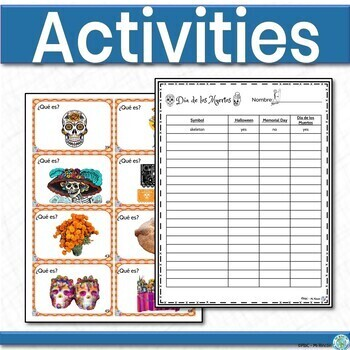 Dia de los Muertos Activities Spanish Bundle