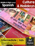 Dia de los Muertos - Intermediate, Advanced - Middle, High School 100% Spanish