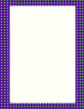 Día de los Muertos Purple & Green Background Paper