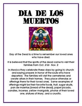 Dia de los Muertos Rememberance Paper/Project
