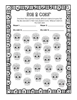 Dia de los Muertos Roll & Color