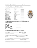 Día de los Muertos: Spanish Worksheet on Day of the Dead